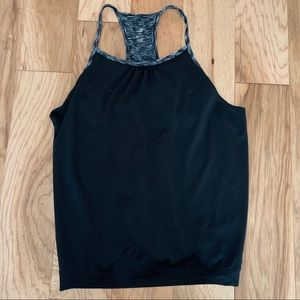 Black/White Joe Fresh workout top - built in bra